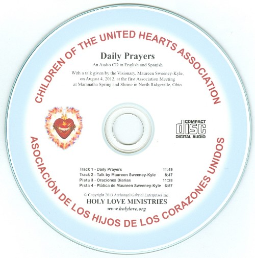 CD: Audio CD of Daily Prayers of Children of the United Hearts  (English/Spanish)
