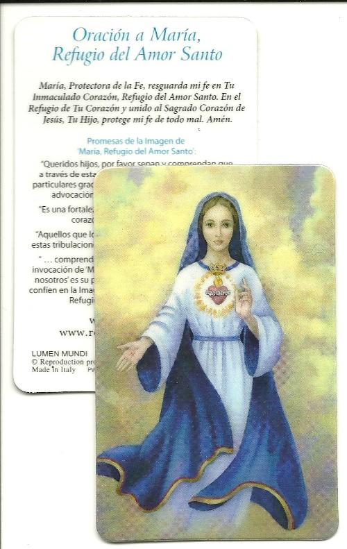 spanish prayer card laminated 5 pk mary refuge of holy love